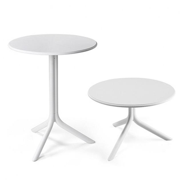 На фото: Круглий стіл Spritz Bianco (40058.00.000), Пластикові столи Nardi, каталог, ціна