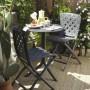 На фото: Круглий стіл Spritz Antracite (40058.02.000), Пластикові столи Nardi, каталог, ціна