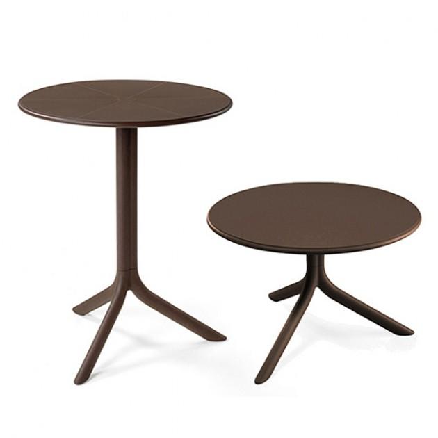 На фото: Круглий стіл Spritz Caffe (40058.05.000), Пластикові столи Nardi, каталог, ціна