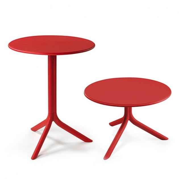 На фото: Круглий стіл Spritz Rosso (40058.07.000), Пластикові столи Nardi, каталог, ціна