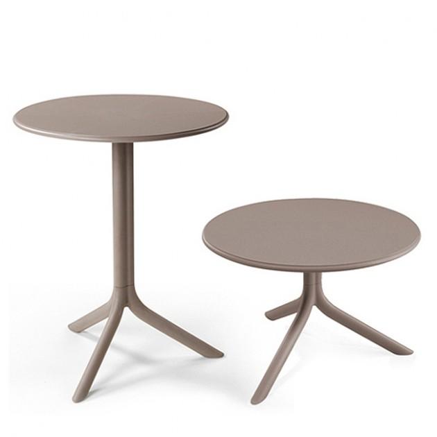 На фото: Круглий стіл Spritz Tortora (40058.10.000), Пластикові столи Nardi, каталог, ціна