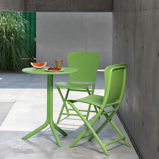 На фото: Круглий стіл Spritz Lime (40058.12.000), Пластикові столи Nardi, каталог, ціна
