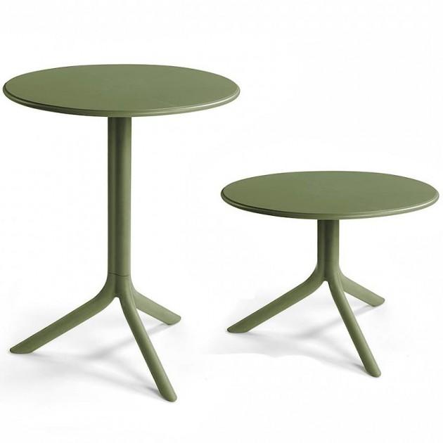 На фото: Круглий стіл Spritz Agave (40058.16.000), Пластикові столи Nardi, каталог, ціна
