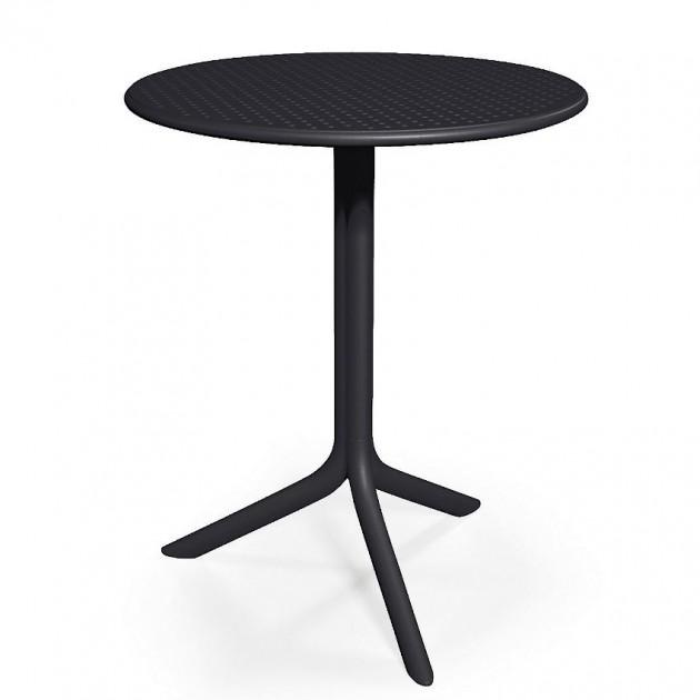 На фото: Круглий стіл Step Anthracite (40056.02.000), Пластикові столи Nardi, каталог, ціна