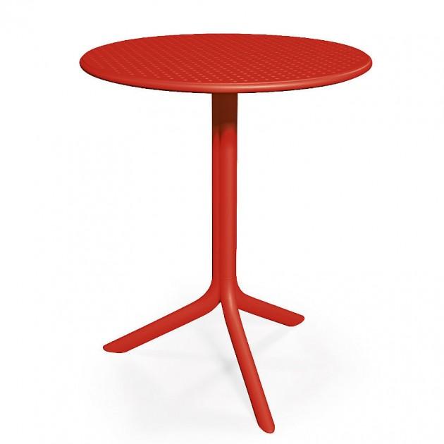 На фото: Круглий стіл Step Rosso (40056.07.000), Пластикові столи Nardi, каталог, ціна