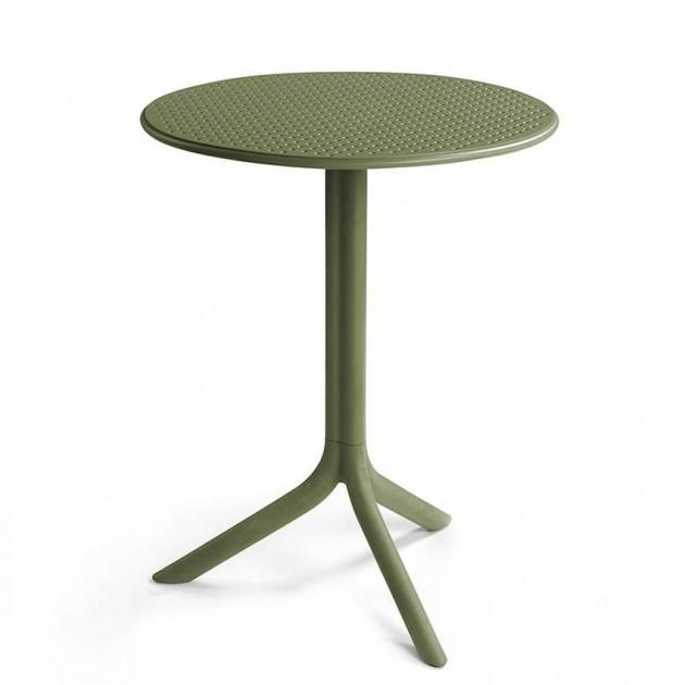На фото: Круглий стіл Step Agave (40056.16.000), Пластикові столи Nardi, каталог, ціна