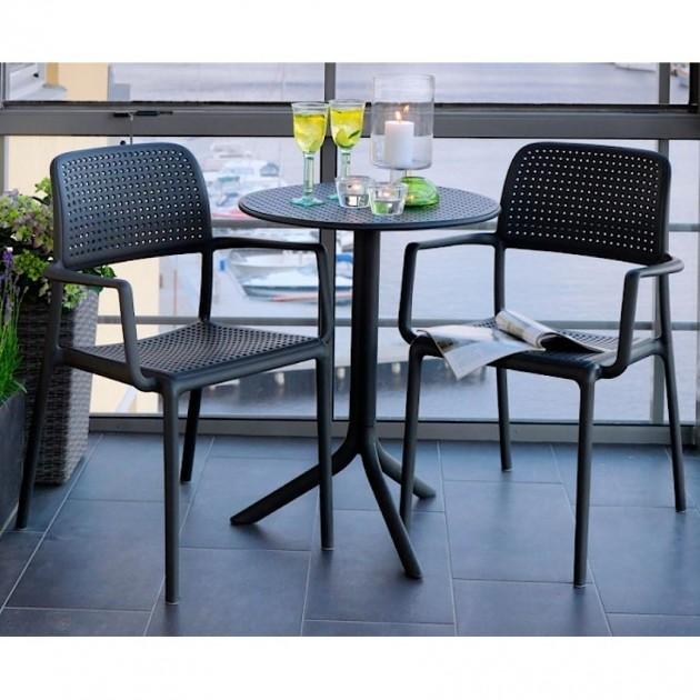 На фото: Столовий комплект Step Anthracite (k40056.02.000), Комплекти для балкону Nardi, каталог, ціна