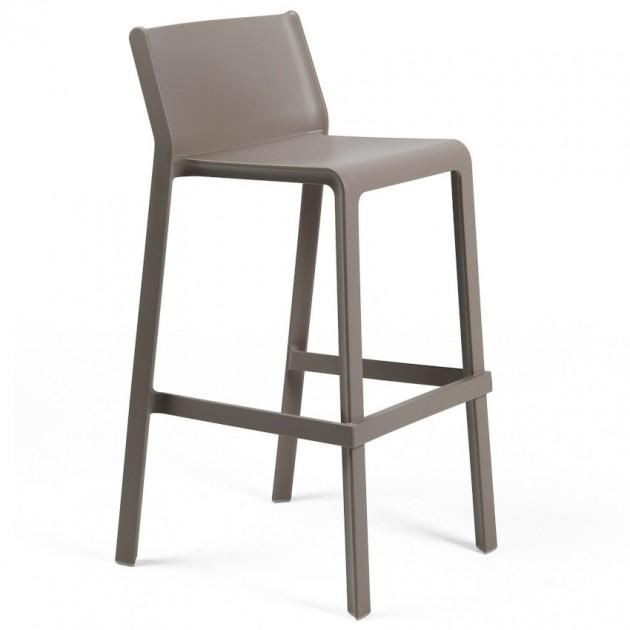 На фото: Барний стілець Trill Tortora (40350.10.000), Пластикові стільці Nardi, каталог, ціна