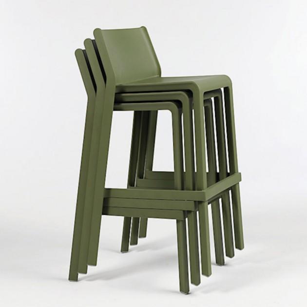 На фото: Барний стілець Trill Agave (40350.16.000), Пластикові стільці Nardi, каталог, ціна