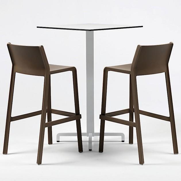 На фото: Барний стілець Trill Tabacco (40350.53.000), Пластикові стільці Nardi, каталог, ціна