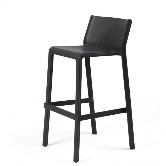 На фото: Напівбарний стілець Trill mini Antracite (40353.02.000), Пластикові стільці Nardi, каталог, ціна