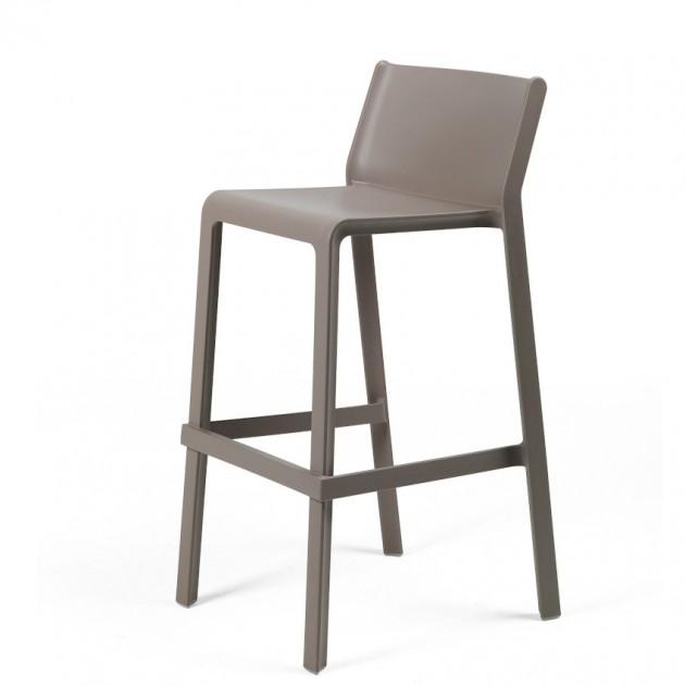 На фото: Напівбарний стілець Trill mini Tortora (40353.10.000), Пластикові стільці Nardi, каталог, ціна