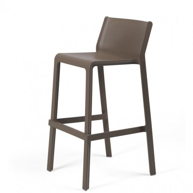 На фото: Напівбарний стілець Trill mini Tabacco (40353.53.000), Пластикові стільці Nardi, каталог, ціна