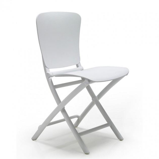На фото: Розкладний стілець Zac Classic Bianco (40324.00.000), Пластикові стільці Nardi, каталог, ціна