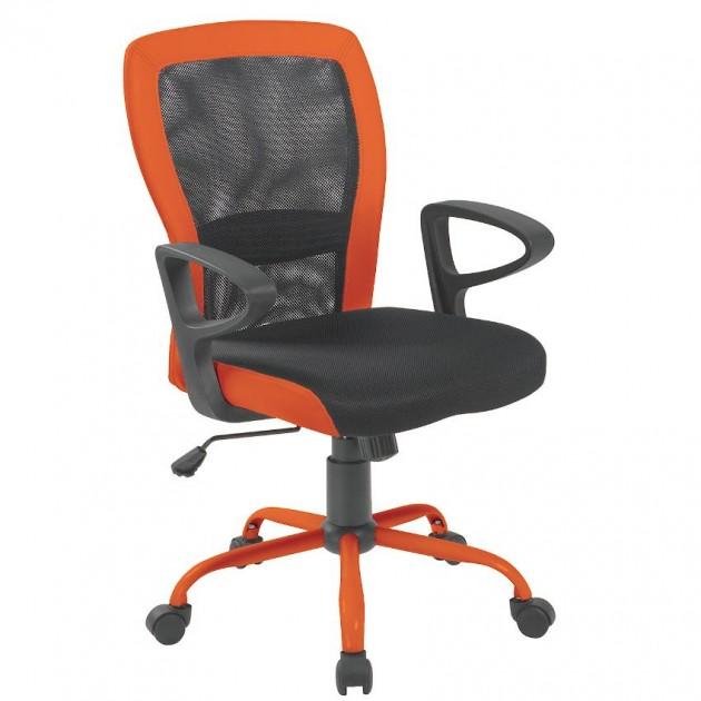 На фото: Офісне крісло Leno Grey Orange (27783), Офісні крісла Office4You, каталог, ціна