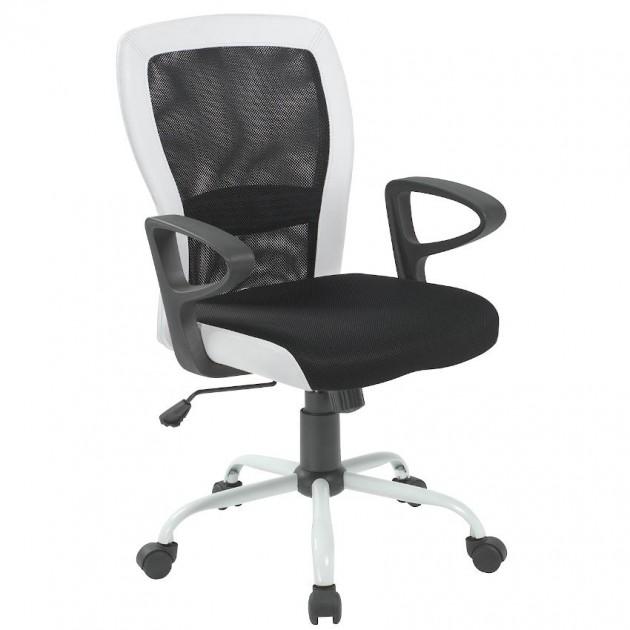 На фото: Офісне крісло Leno Black White (27785), Офісні крісла Office4You, каталог, ціна