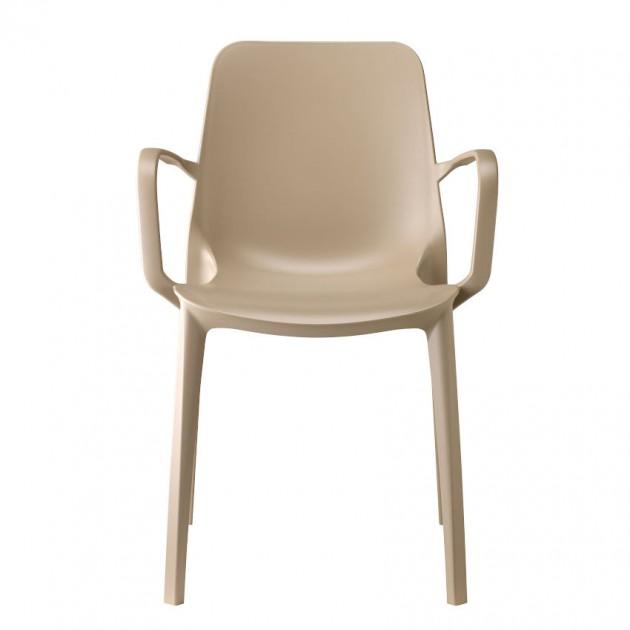 На фото: Крісло Ginevra 2333 Dove Grey (233315), Пластикові крісла S•CAB, каталог, ціна