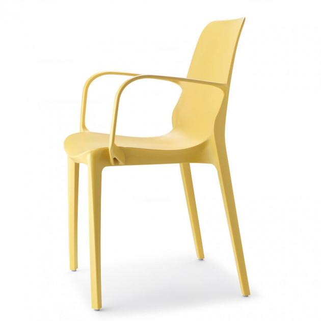 На фото: Крісло Ginevra 2333 Mustard Yellow (233322), Пластикові крісла S•CAB, каталог, ціна