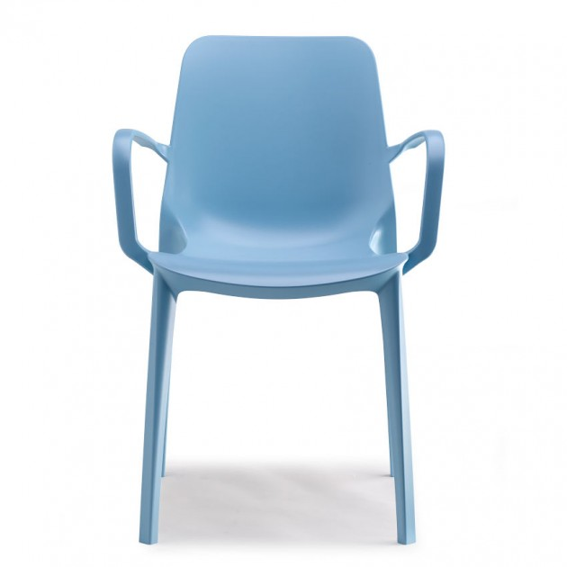 На фото: Крісло Ginevra 2333 Azzurro (233362), Пластикові крісла S•CAB, каталог, ціна