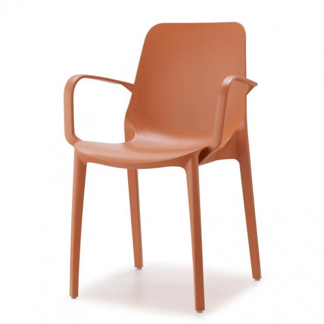 На фото: Крісло Ginevra 2333 Terracotta (233373), Пластикові крісла S•CAB, каталог, ціна