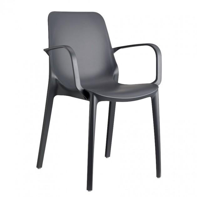 На фото: Крісло Ginevra 2333 Antracite (233381), Пластикові крісла S•CAB, каталог, ціна