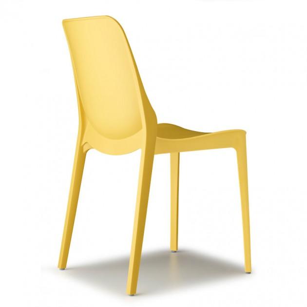 На фото: Стілець Ginevra 2334 Mustard Yellow (233422), Пластикові стільці S•CAB, каталог, ціна