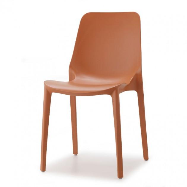 На фото: Стілець Ginevra 2334 Terracotta (233473), Пластикові стільці S•CAB, каталог, ціна