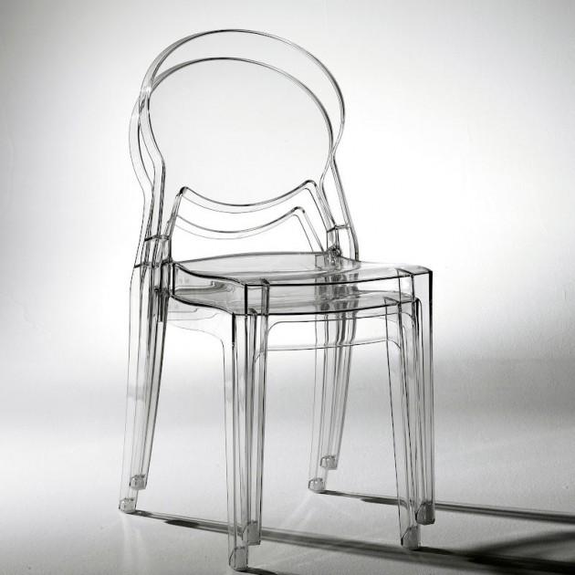На фото: Стілець Igloo 2357 Bianco (2357310), Стільці для дому SCAB Design, каталог, ціна