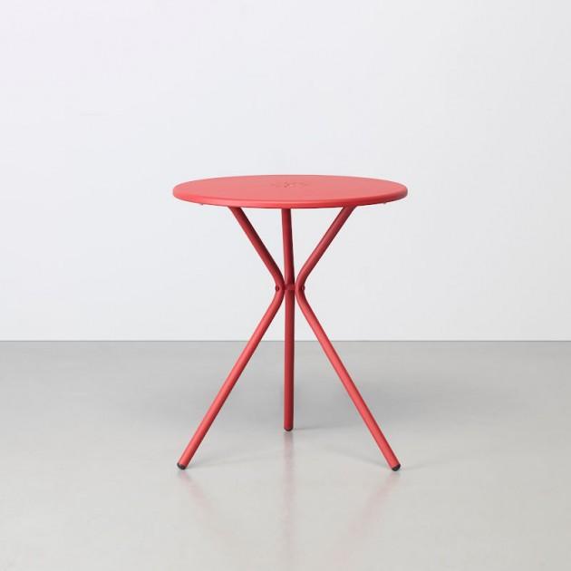 На фото: Металевий стіл Leo 2719 Brick Red (2719VM), Великі столи S•CAB, каталог, ціна