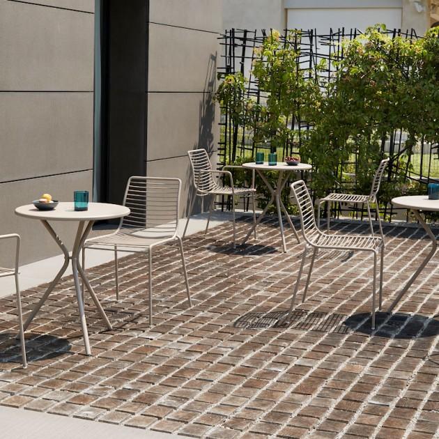 На фото: Металевий стіл Leo 2719 Dove Grey (2719VT), Круглі столи S•CAB, каталог, ціна