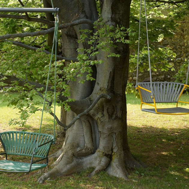 На фото: Крісло-гойдалка Lisa Swing Antracite Mint (2883ZA N57), Підвісні крісла S•CAB, каталог, ціна
