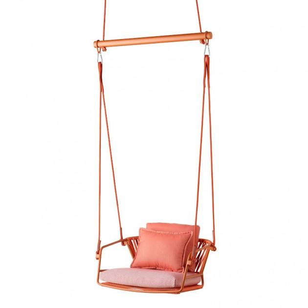 На фото: Крісло-гойдалка Lisa Swing Terracotta Orange (2883ZE N30), Підвісні крісла S•CAB, каталог, ціна