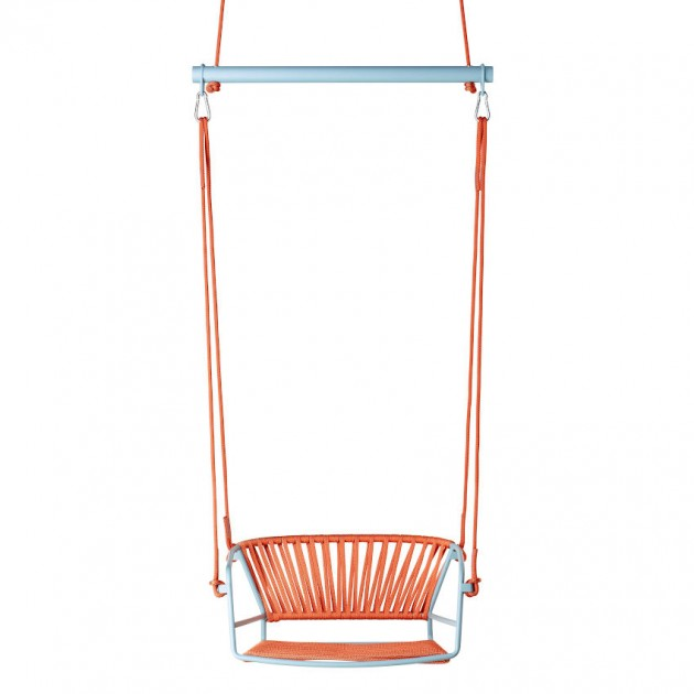 На фото: Крісло-гойдалка Lisa Swing Air-force Blue Orange (2883ZO N30), Підвісні крісла S•CAB, каталог, ціна