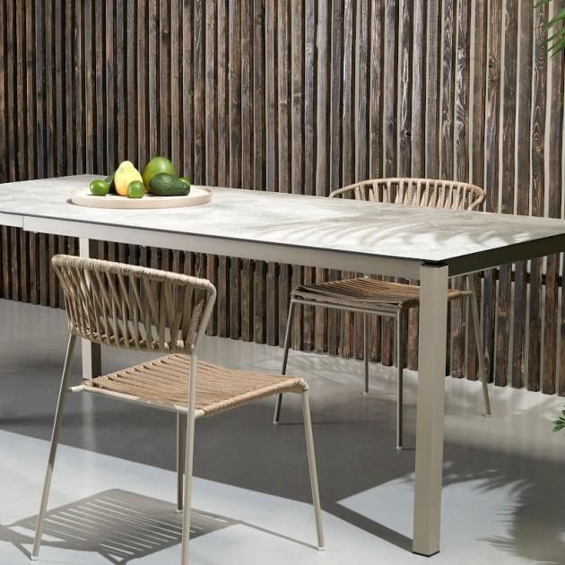 На фото: Обідній стіл Pranzo 2418 Tortora Stone (2418VT90), Великі столи SCAB Design, каталог, ціна
