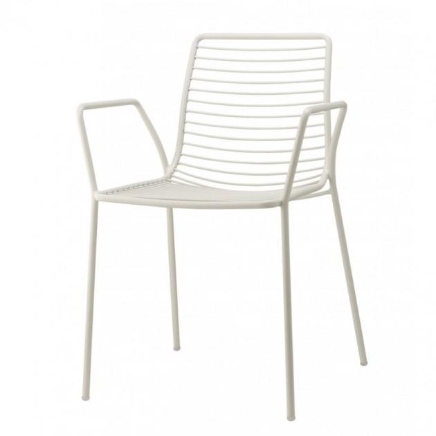 На фото: Крісло Summer 2520 Bianco (2520VB), Металеві крісла S•CAB, каталог, ціна