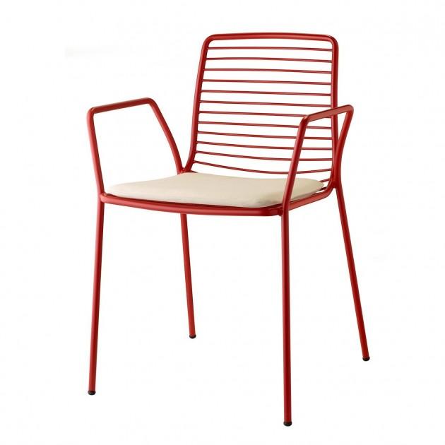 На фото: Крісло Summer 2520 Brick Red (2520VM), Металеві крісла S•CAB, каталог, ціна