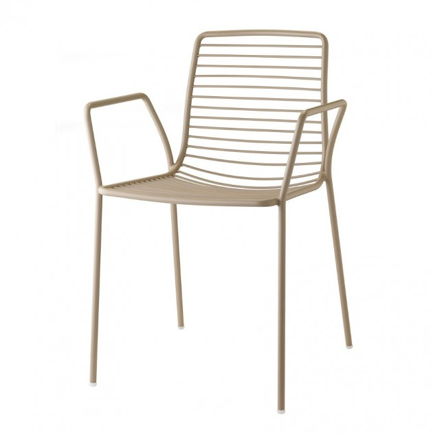 На фото: Крісло Summer 2520 Dove Grey (2520VT), Металеві крісла S•CAB, каталог, ціна