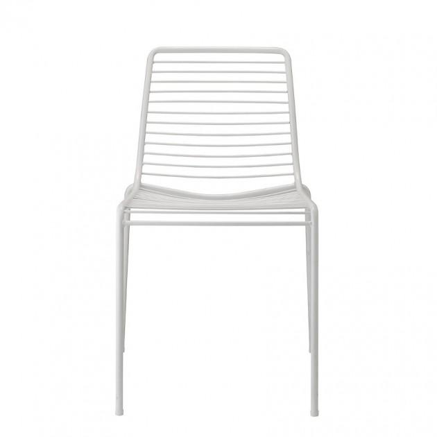 На фото: Стілець Summer 2522 Bianco (2522VB), Металеві стільці S•CAB, каталог, ціна