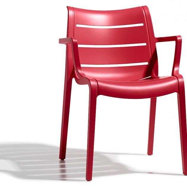 На фото: Крісло Sunset 2329 Rosso Geranio (232942), Пластикові крісла SCAB Design, каталог, ціна