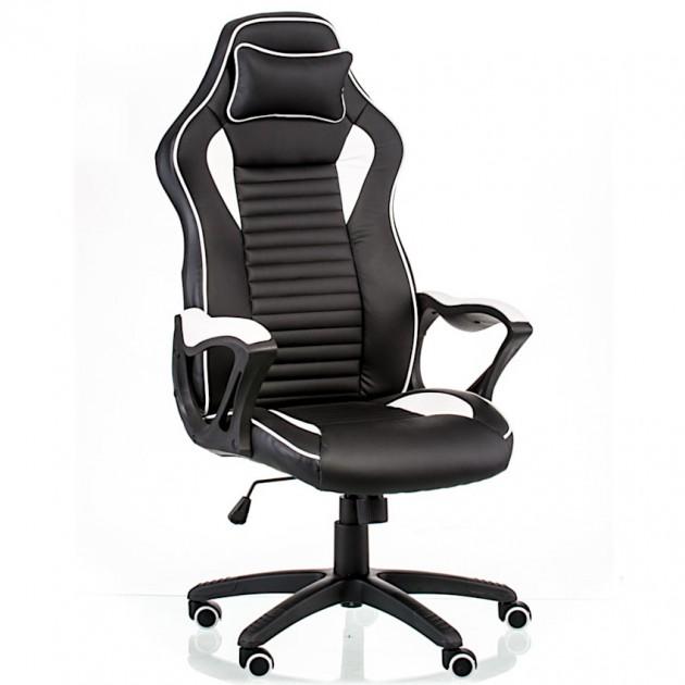 На фото: Офісне крісло Nero Black-White (E5371), Офісні стільці і крісла Special4You, каталог, ціна