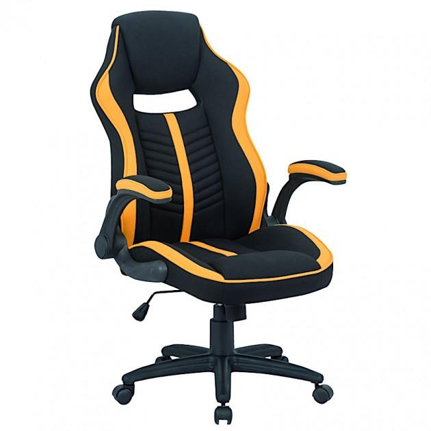 На фото: Офісне крісло Prime Black Yellow (E5548), Офісні стільці і крісла Special4You, каталог, ціна