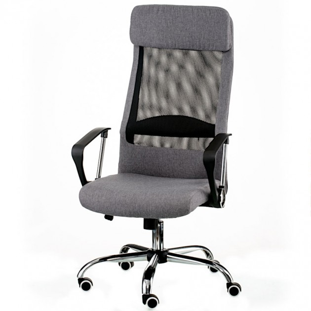 На фото: Офісне крісло Silba Grey (E5807), Офісні стільці і крісла Special4You, каталог, ціна