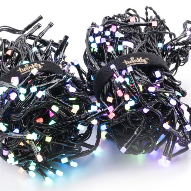 На фото: Розумна LED гірлянда Cluster RGB 400 (TWC400STR-BEU), Світлодіодні гірлянди Twinkly, каталог, ціна