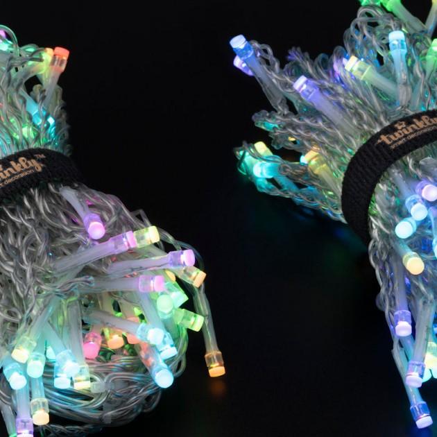 На фото: Розумна LED гірлянда Icicle RGB 190 (TWI190STP-TEU), Світлодіодні гірлянди Twinkly, каталог, ціна
