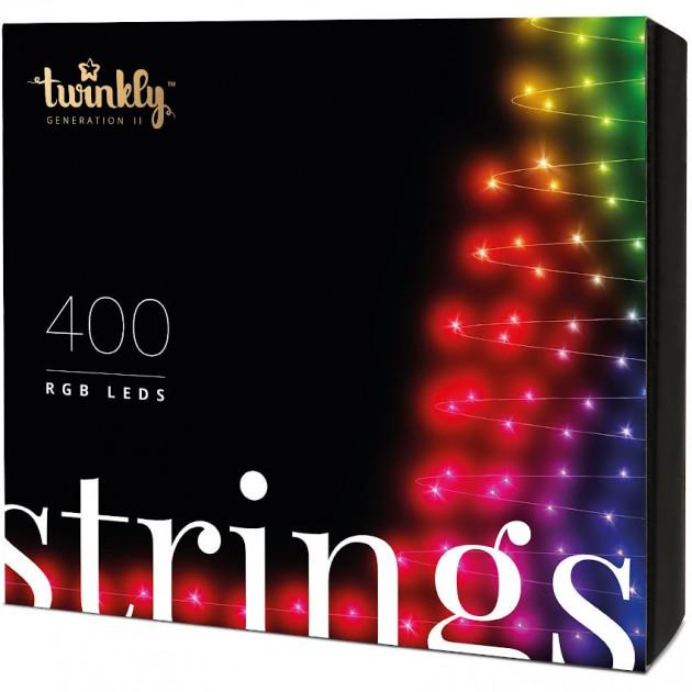 На фото: Розумна LED гірлянда Strings RGB 400 (TWS400STP-BEU), Світлодіодні гірлянди Twinkly, каталог, ціна