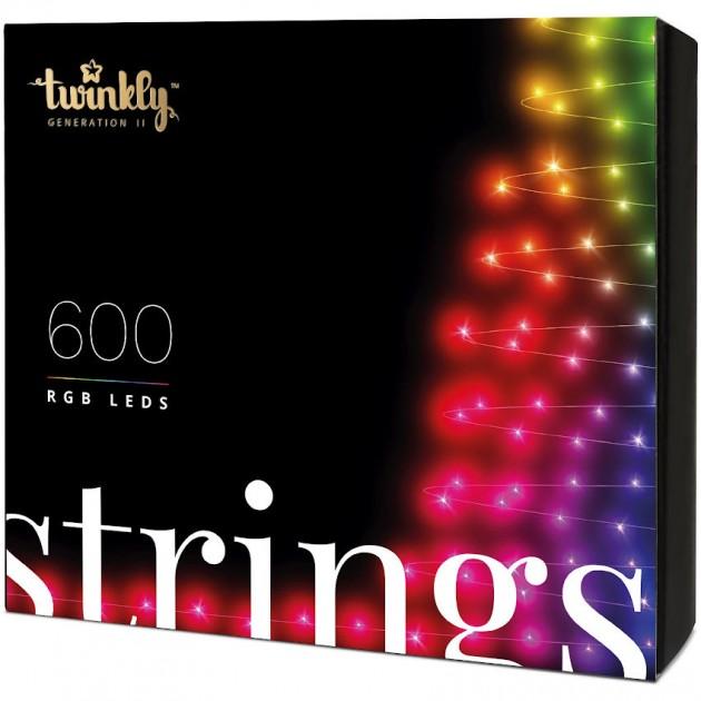 На фото: Розумна LED гірлянда Strings RGB 600 (TWS600STP-BEU), Світлодіодні гірлянди Twinkly, каталог, ціна