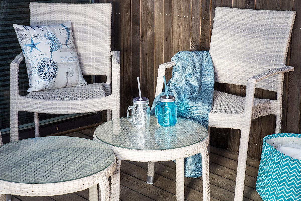 Купити комплект меблів для балкона зі штучного ротанга
