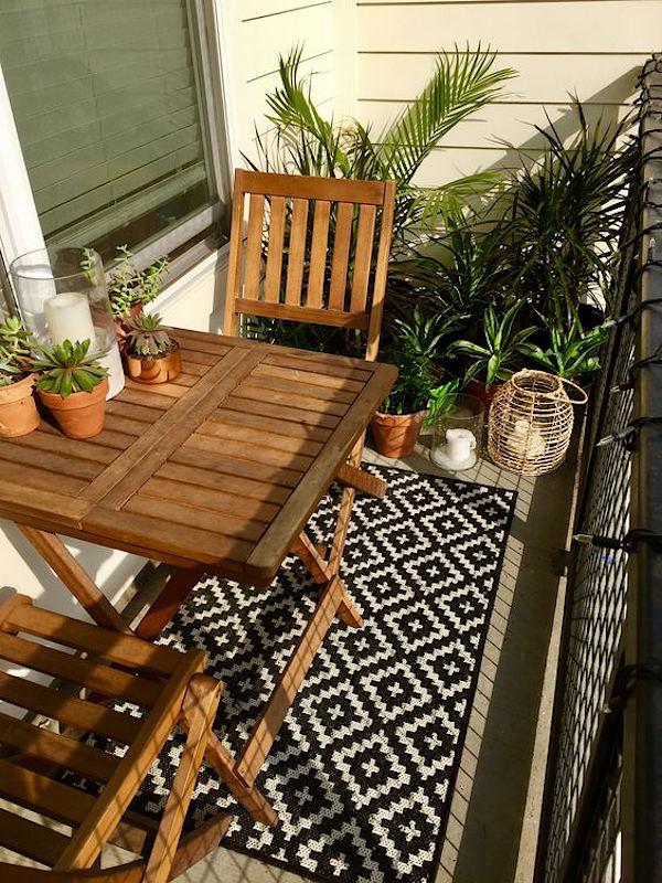 Купити комплект дерев'яних меблів для балкона Garden4You з натуральної акації