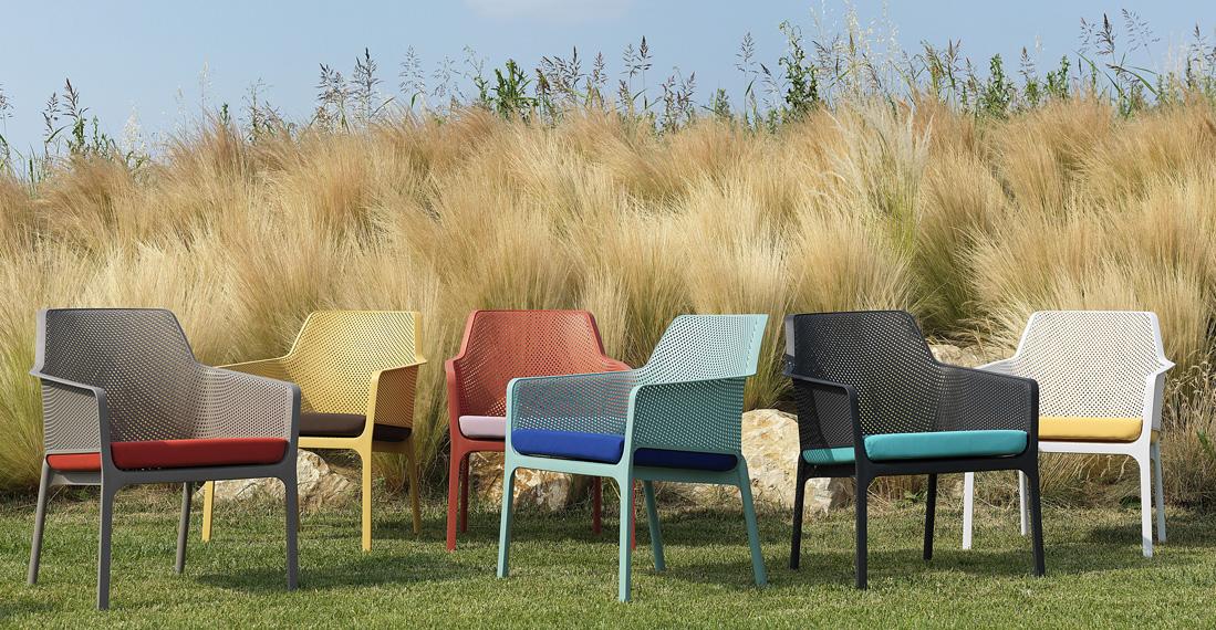 Яскрава кольорова гама крісел Net Relax